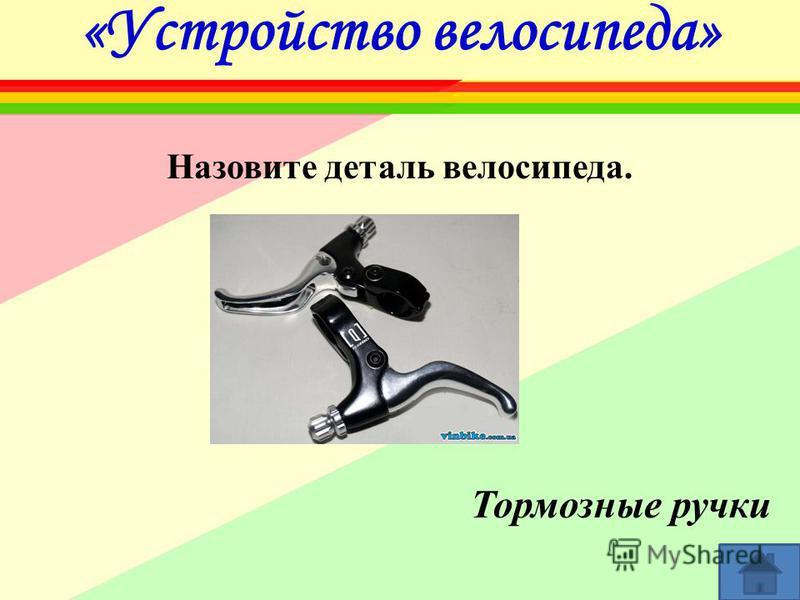 «Устройство велосипеда» Назовите деталь велосипеда. Тормозные ручки