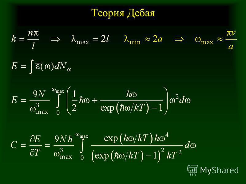 Теория Дебая