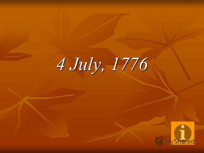 4 July, 1776