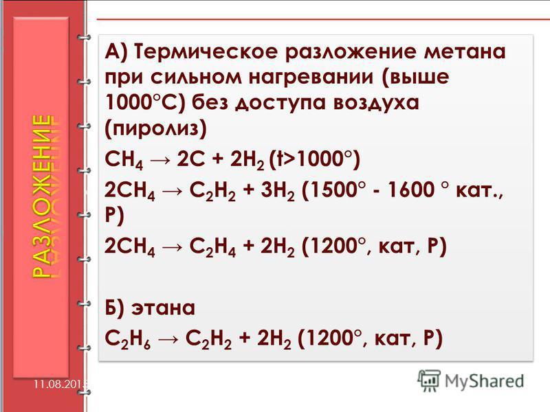 протестное, непредсказуемое затраты на разложение метана записи Особенности характера