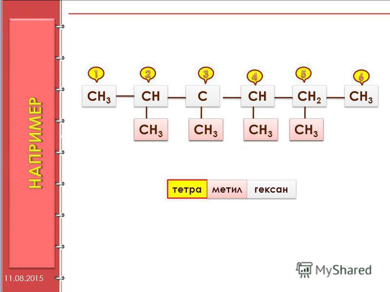 СН 3 СН С С СН 3 СН СН 2 СН 3 тетра метил гексан 11.08.2015