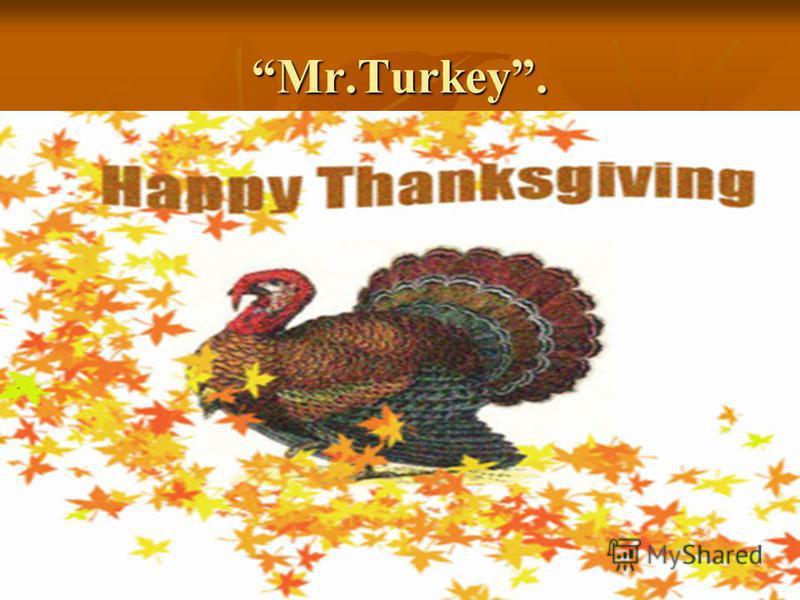 Mr.Turkey.