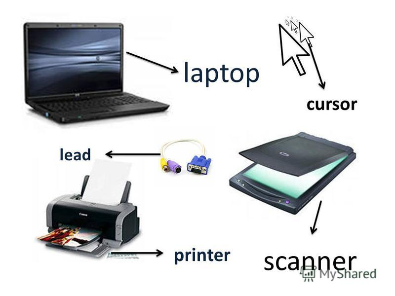 laptop scanner printer lead cursor