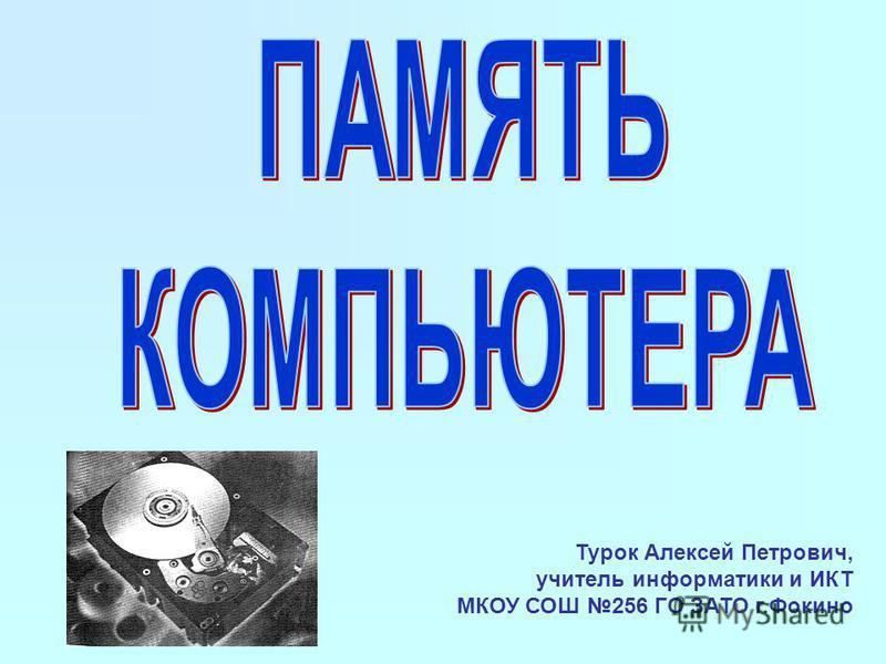 Турок Алексей Петрович, учитель информатики и ИКТ МКОУ СОШ 256 ГО ЗАТО г.Фокино