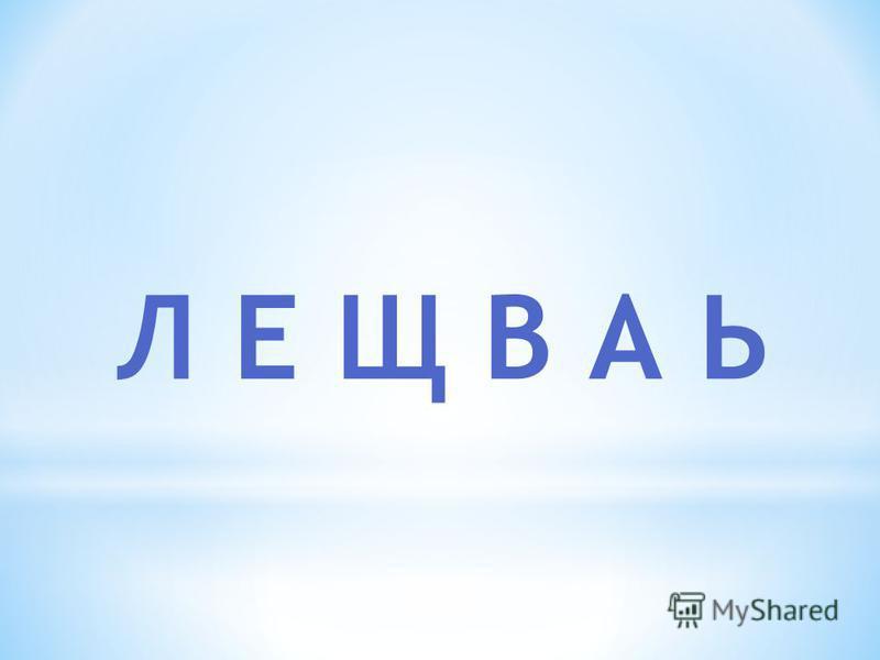 Л Е Щ В А Ь