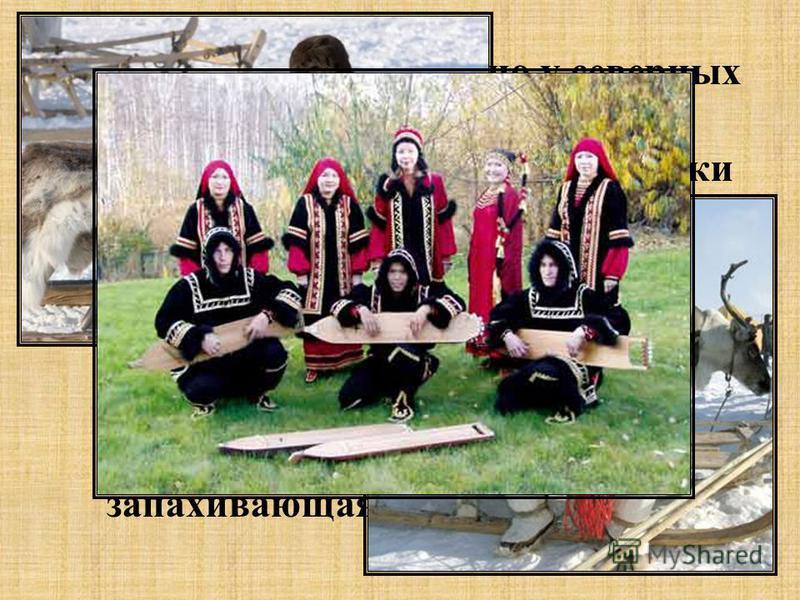 Зимняя одежда, особенно у северных групп, состояла из малицы (одевалась мехом внутрь) и парки (мехом наружу). Женщины носили сходную с рубахой народов Поволжья длинную туникообразную рубашку с вышивкой. Была распространена также халатообразная верхня