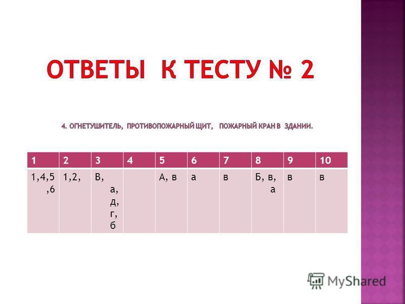 12345678910 1,4,5,6 1,2,В, а, д, г, б А, вавБ, в, а вв