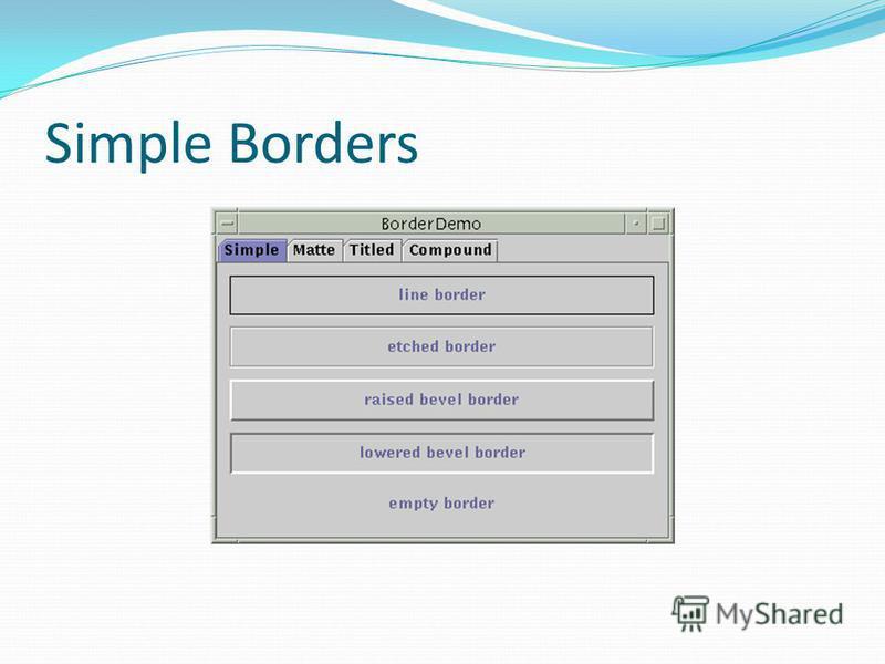 Simple Borders