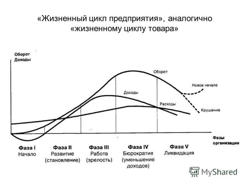 «Жизненный цикл предприятия», аналогично «жизненному циклу товара»