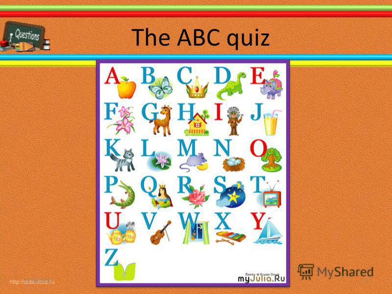 The ABC quiz 11.08.20153