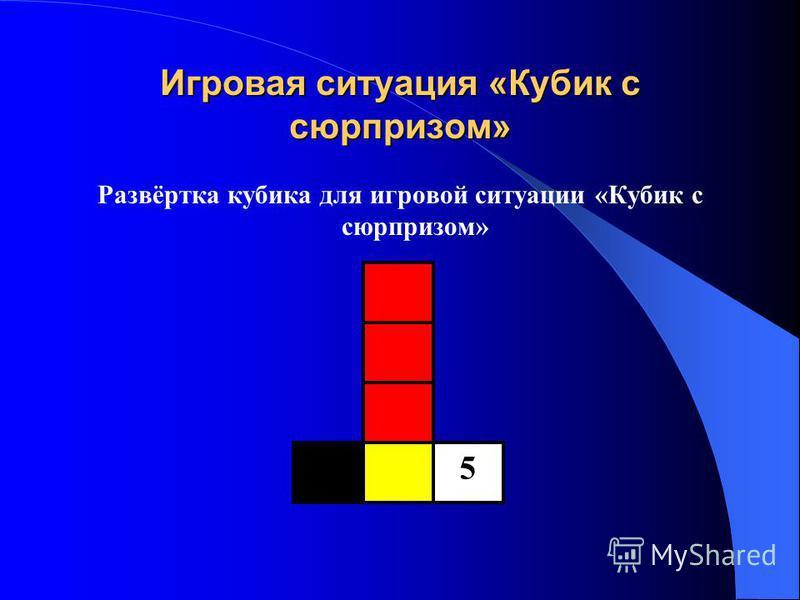Игровая ситуация «Кубик с сюрпризом» Развёртка кубика для игровой ситуации «Кубик с сюрпризом» 5
