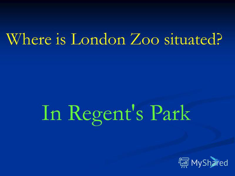 Where is London Zoo situated? In Regent's Park