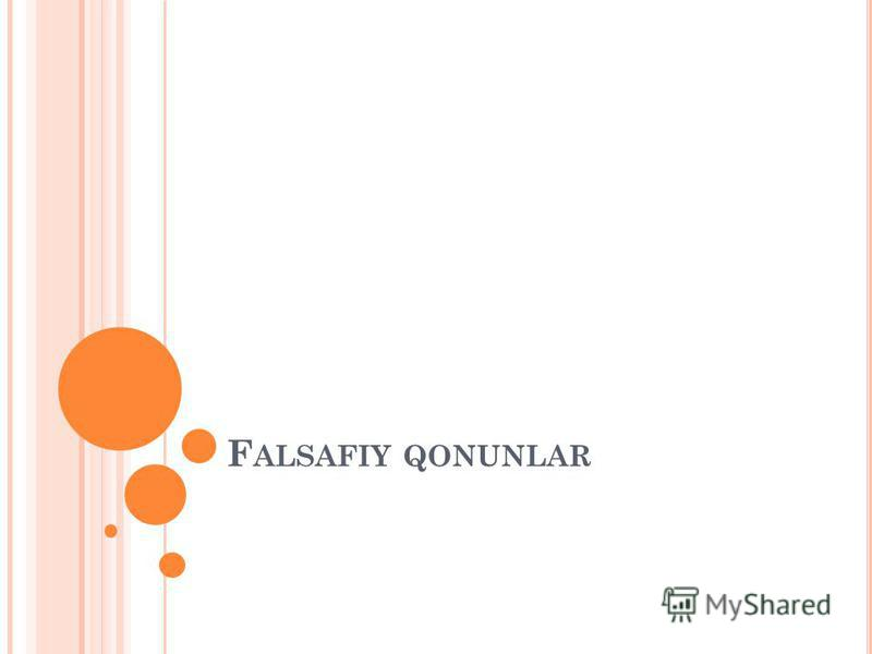 F ALSAFIY QONUNLAR