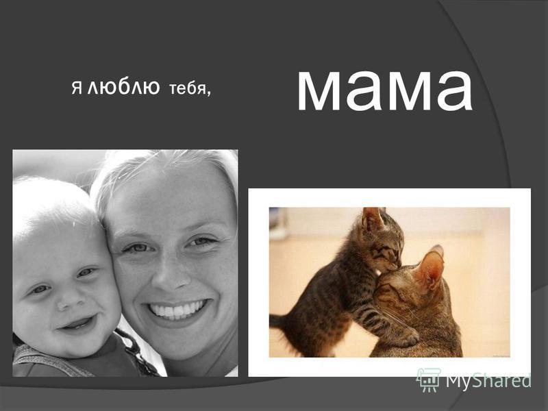 мама Я люблю тебя,