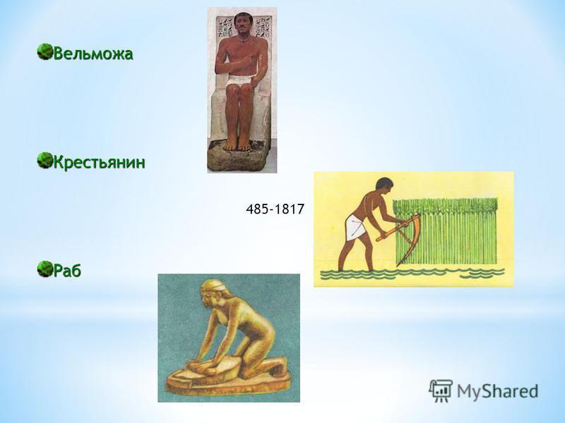 Вельможа Крестьянин Раб 485-1817