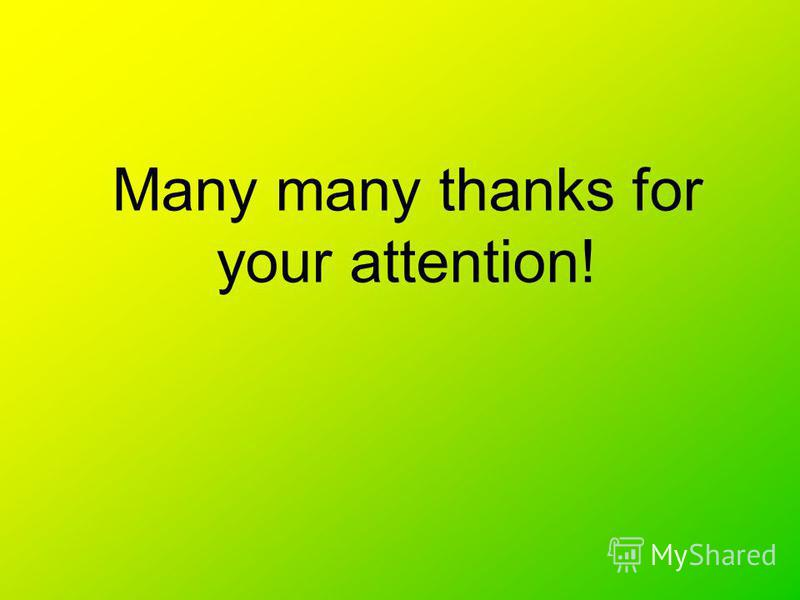 Many many thanks for your attention!