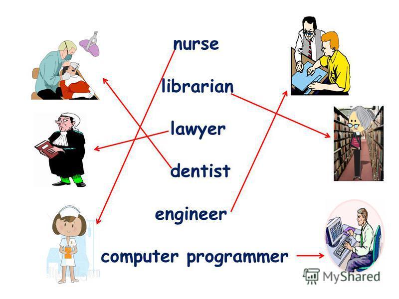 nurse librarian lawyer dentist engineer computer programmer