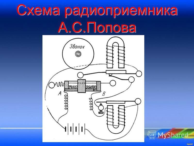 Схема радиоприемника А.С.Попова
