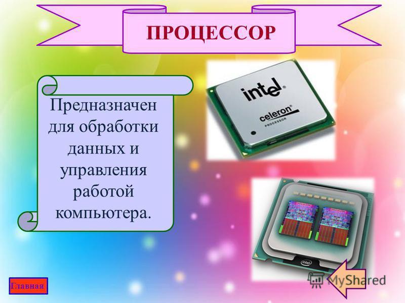 процессор устройства оперативной памяти жёсткий диск блок питания дисководы (накопители) Выбери! Главная