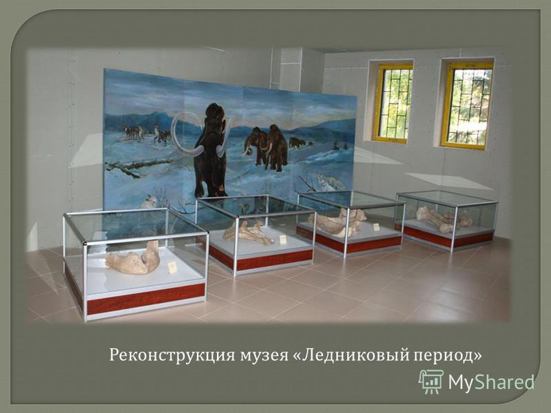 Реконструкция музея « Ледниковый период »