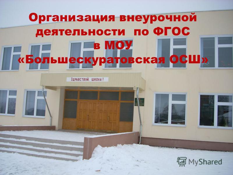 Организация внеурочной деятельности по ФГОС в МОУ «Большескуратовская ОСШ»