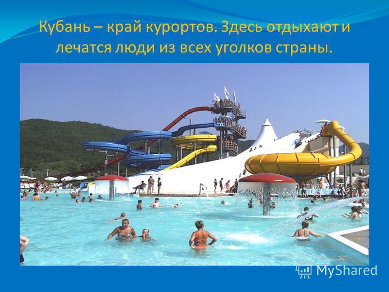 Кубань – край курортов. Здесь отдыхают и лечатся люди из всех уголков страны.
