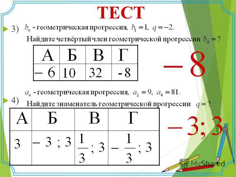 ТЕСТ 3) 4)