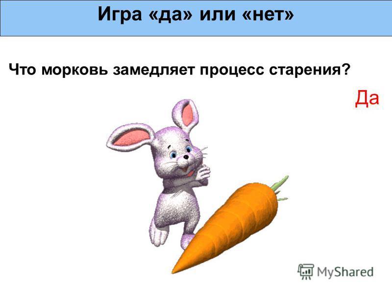 Что морковь замедляет процесс старения? Игра «да» или «нет» Да