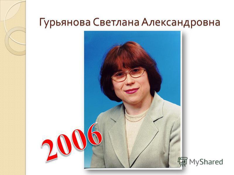 Гурьянова Светлана Александровна