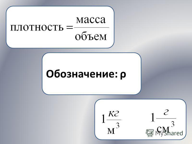 Обозначение: ρ