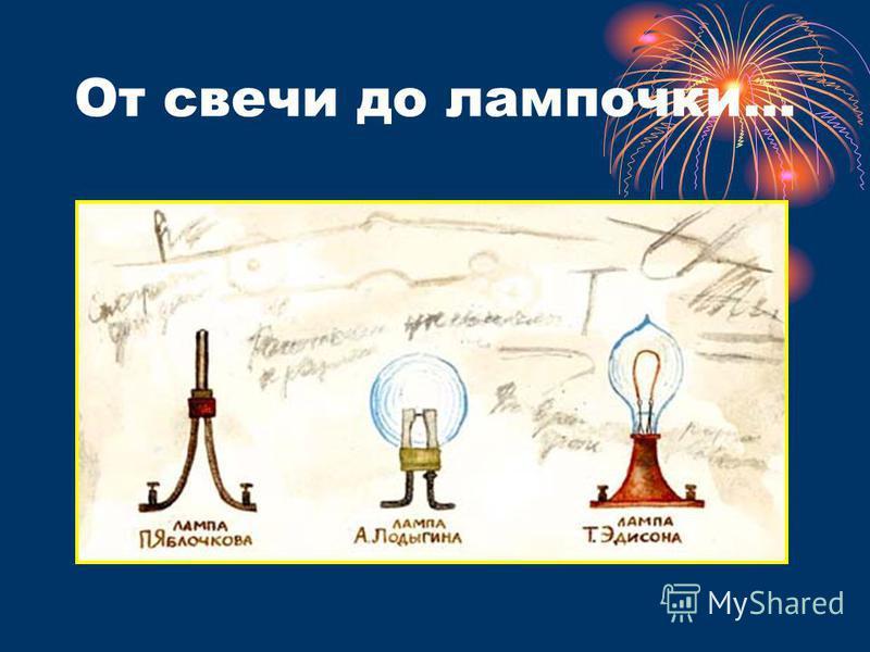 От свечи до лампочки…