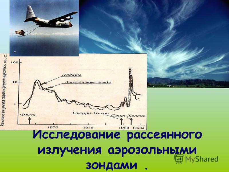 Исследование рассеянного излучения аэрозольными зондами.