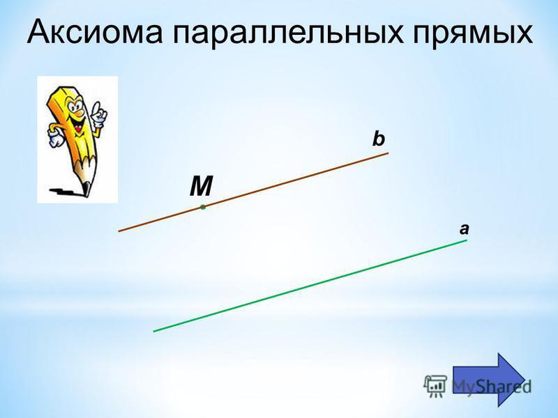 Аксиома параллельных прямых а М b