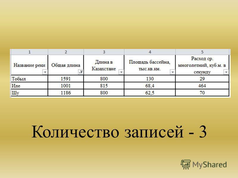 Количество записей - 3
