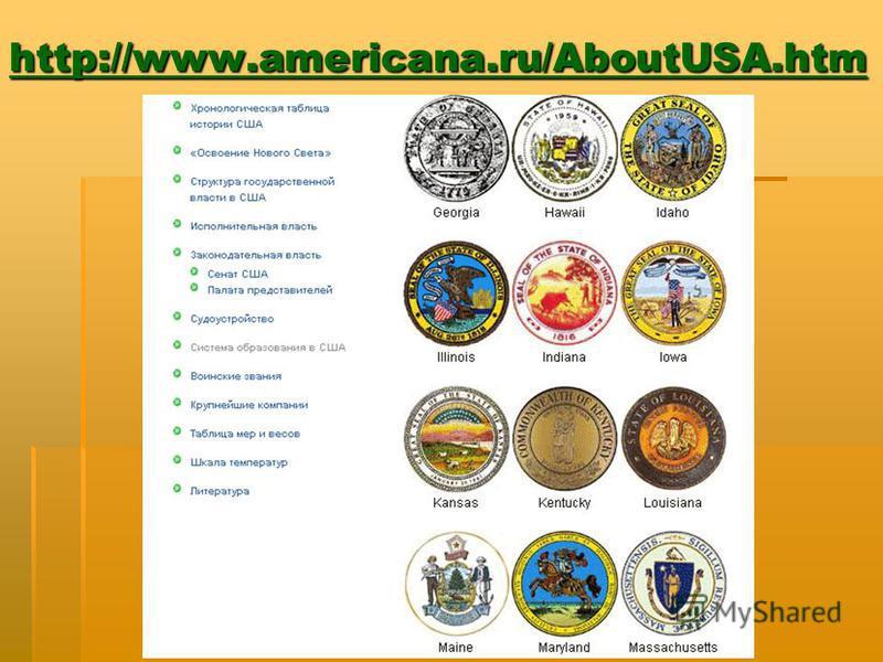 http://www.americana.ru/AboutUSA.htm
