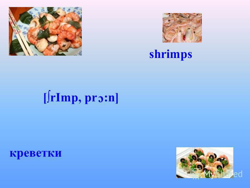 shrimps [rІmp, pr с :n] креветки