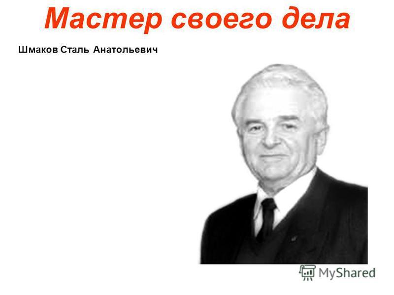 Мастер своего дела Шмаков Сталь Анатольевич