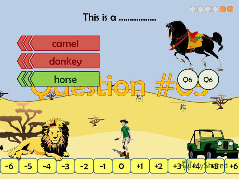 This is a …………….. +4+3+2+10-2-3-4+5+6-6-5 don k ey camelhorsecamel don k ey horse Q6