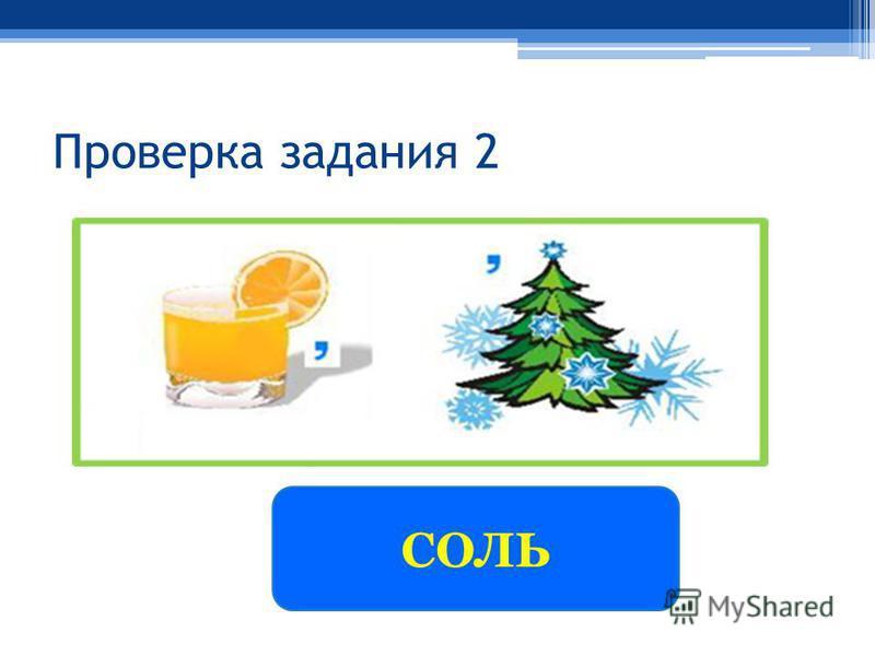 Проверка задания 2 СОЛЬ