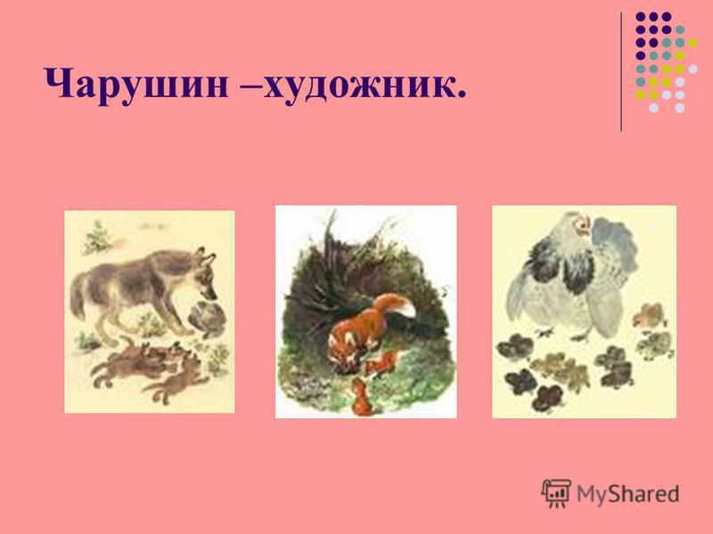 Чарушин –художник.