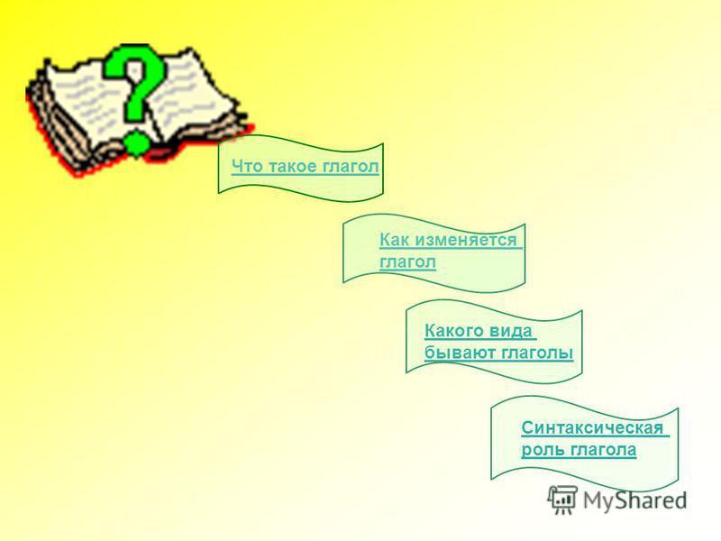 Что такое глагол Как изменяется глагол Какого вида бывают глаголы Синтаксическая роль глагола
