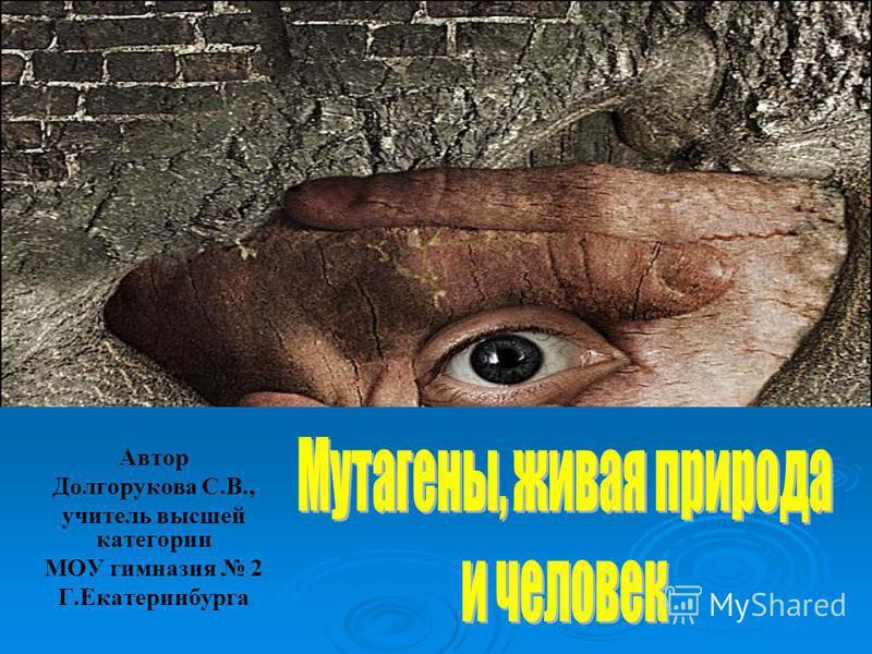 Автор Долгорукова С.В., учитель высшей категории МОУ гимназия 2 Г.Екатеринбурга
