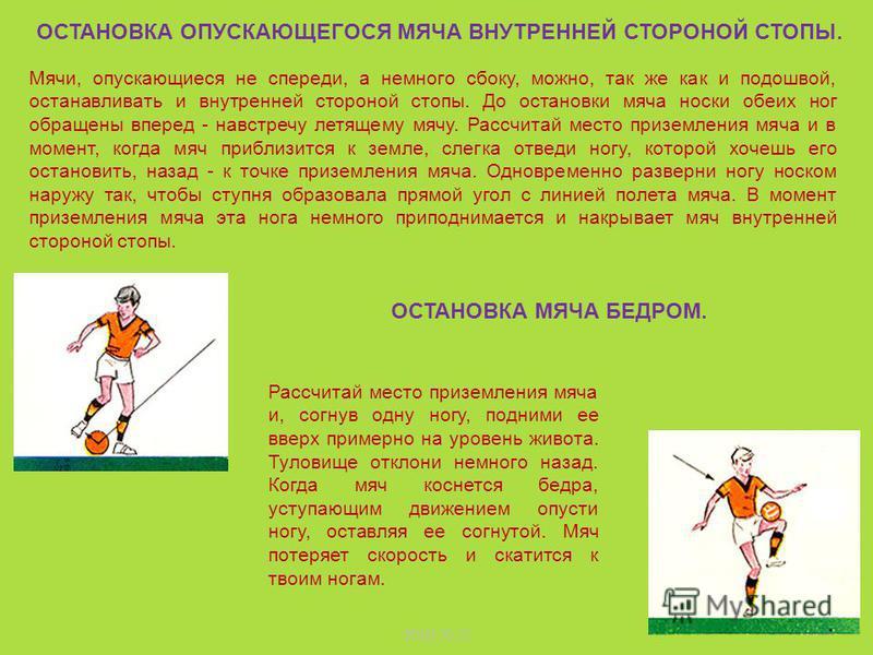 ЗОШ 22 Умение бить по мячу головой в прыжке во многом зависит от умения высоко и вовремя прыгать. Нужно научиться рассчитывать момент нанесения удара по мячу. В некоторых случаях, уже находясь в воздухе, игрок делает энергичное движение туловищем и г