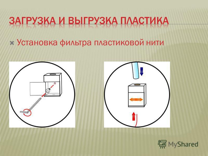 Установка фильтра пластиковой нити