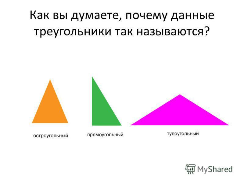 Как вы думаете, почему данные треугольники так называются?