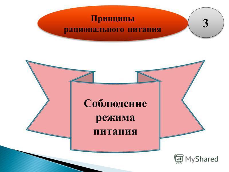 Принципы рационального питания Соблюдение режима питания 3 3