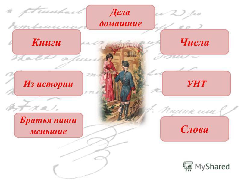 Книги Числа Из историиУНТ Дела домашние Братья наши меньшие Слова