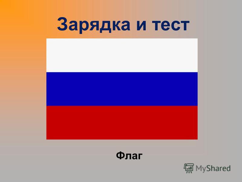 Зарядка и тест Флаг