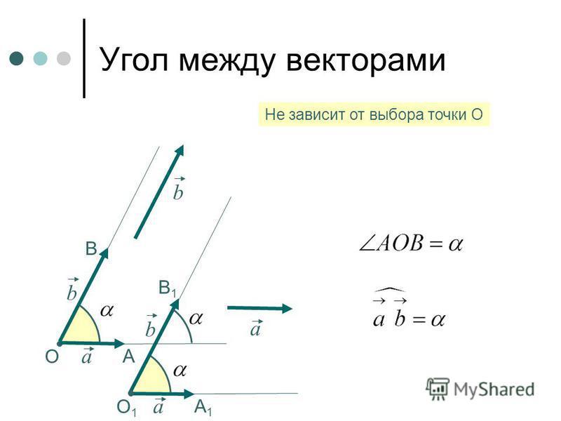 О a b А В b Не зависит от выбора точки О a b О1О1 А1А1 В1В1 a
