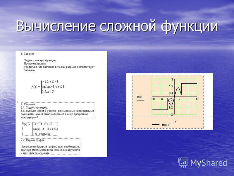 Вычисление сложной функции
